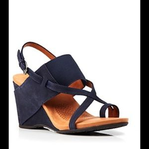 Gentle Souls suede wedge sandal - so gorgeous!